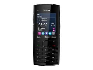 Nokia X2-02 ocean blue front