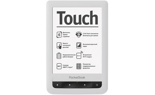 PocketBook Touch white front