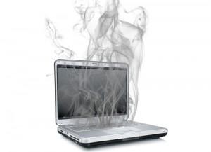 поломанный ноутбук