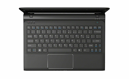 Sony Vaio E SVE11113FXB Sharkskin Black keyboard