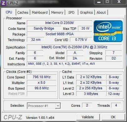 Sony Vaio SV-E14A1S1R CPU-Z