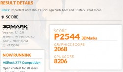 ASUS Zenbook UX31A 3D Mark Vantage Score