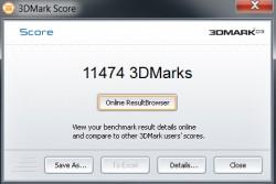 ASUS Zenbook UX31A 3D Mark03 Score