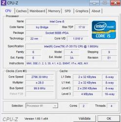 ASUS Zenbook UX31A CPU-Z CPU