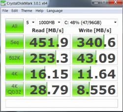 ASUS Zenbook UX31A CrystalDiskMark