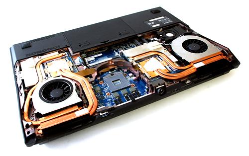 Eurocom Scorpius bottom disassembled