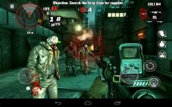Скриншот из игры Dead Trigger на планшете Google Nexus 7