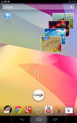 Рабочий стол Google Nexus 7