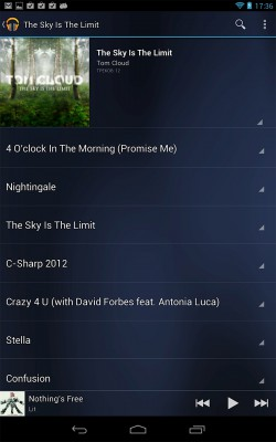 Музыкальный проигрыватель Google Nexus 7