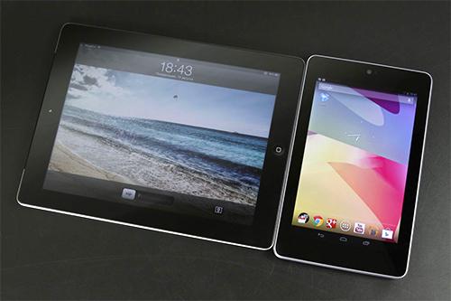 Сравнение габаритов Google Nexus 7 и Apple iPad