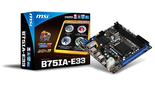 Материнская плата MSI B75IA-E33