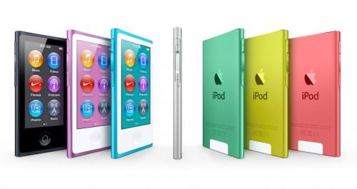 Доступные цвета корпуса Apple iPod nano нового поколения