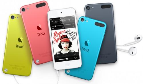 Доступные цвета iPod touch 5-го поколения