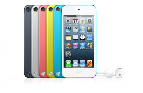 Плеера iPod touch 5-го поколения разного цвета