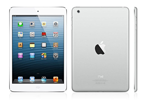 Apple iPad mini white front back side