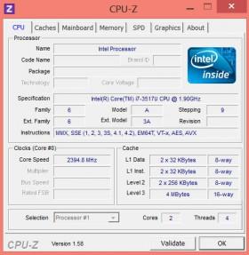 Sony VAIO Duo 11 CPU-Z CPU