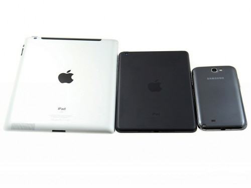 iPad Mini vs iPad 4 vs Samsung Galaxy Note