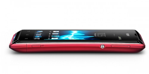 Sony Xperia E red side