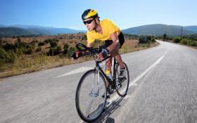 cyclist man on a road