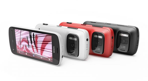 Nokia 808 PureView white red black