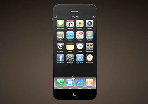 iPhone 5 black front