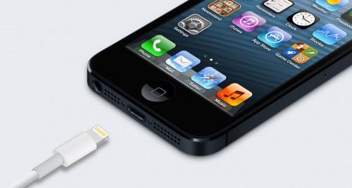 Разъем Lightning смартфона iPhone 5