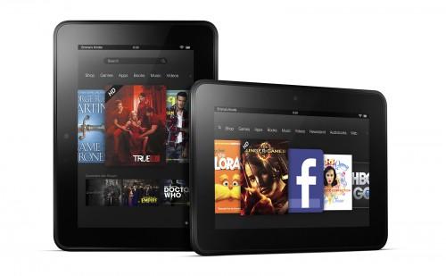 Планшеты Kindle Fire HD 7 в горизонтальном и вертикальном положениях