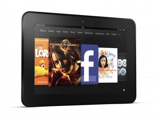 Планшет Kindle Fire HD 8.9 в горизонтальном положении