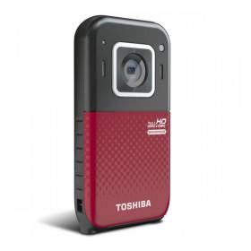 Фронтальная сторона карманного камкордера Toshiba Camileo BW20