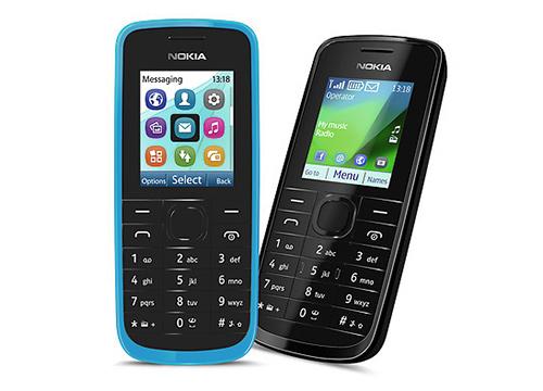 Nokia 109 black blue