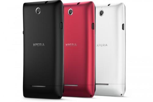 Sony Xperia E back angle